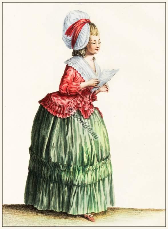 farthingale,Rococo fashion. 18th century costumes. Fashion history.