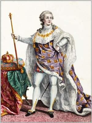 King Louis XVI., Rococo court dress. Costume ideas. Vintage french fashion.