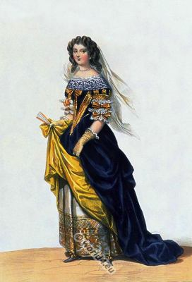 Grand Dame, Baroque, Nobility, French, Grand Dame, costume, fashion history, historical, dress, 17th century, Louis XIV