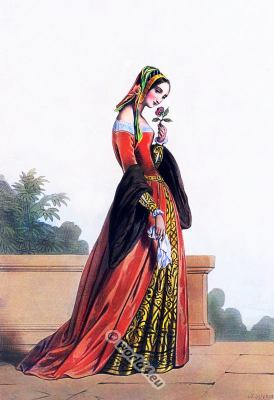 lady fashion, Renaissance, clothing, 16th century, costumes,medieval, gown, nobility