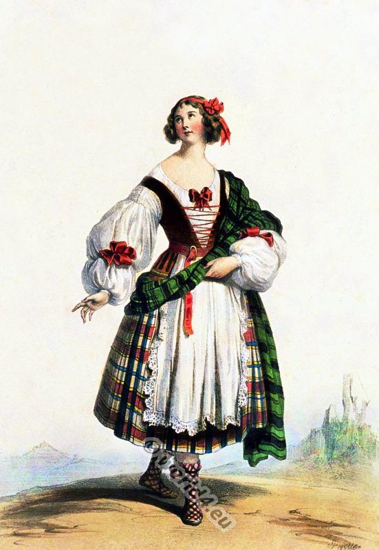 Scottish Woman Costume 14th Century.