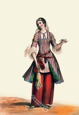 Persia, 19th century, Iran, historic,clothing,traditional,oriental,costume,dress,