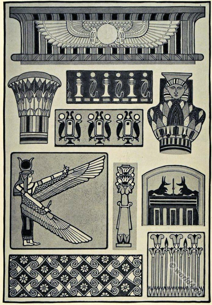 Ancient egyptian culture brief overview of the cultural for Ancient egyptian decoration