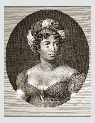 Madame de Staël. French female writer. 18th century literature.