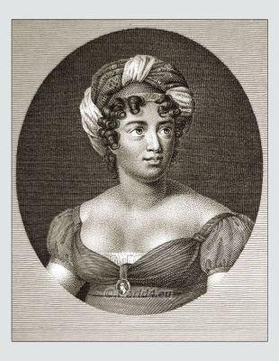 Madame de Staël. French female writer. 18th century literature.