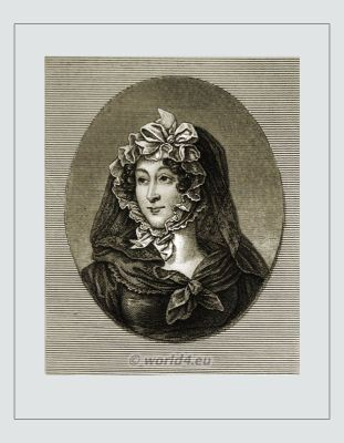 Marguerite Victoire Babois, French writer, Portrait, Artist during French empire period.