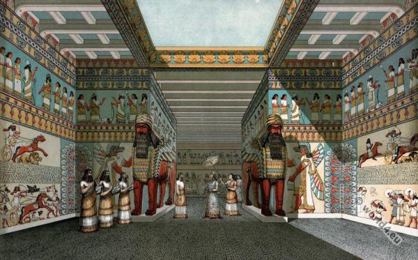 Assyria, palace, Nineveh, Court, Crystal, Palace,
