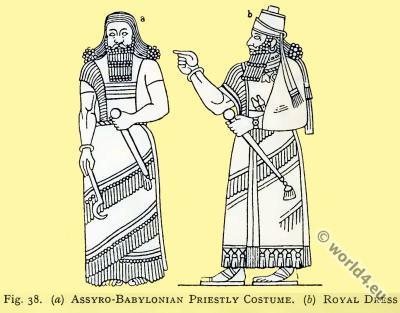Assyria, Royal, dress, Babylonia, Priestly, costume