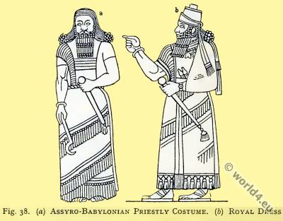Assyria, Royal, dress, Babylonia, Priestly, costume