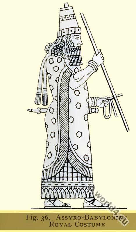 Ancient Assyrian Babylonian Royal costume