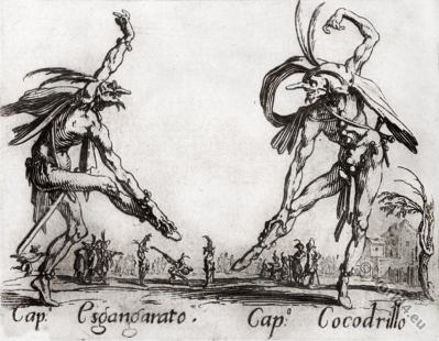 Commedia dell'Arte costumes dance, acrobat, street-performer. Medieval clothing. Renaissance cloth.