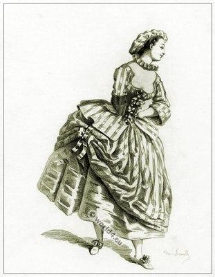 Commedia dell'arte Theater Costume Coraline, Masques et bouffons, Actors of the comédie italienne.