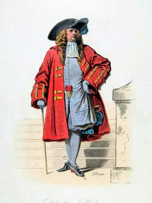 Knight of St. Louis. French Baroque costume. 17th Century clothing. Louis XIV Ancien Régime fashion. Court Dress in Versailles
