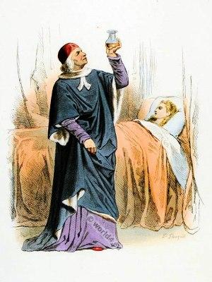 Doctor costume. Medieval fashion. Renaissance fashion.