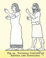 ancient, costumes, Assyria, Babylonia, Mesopotamia