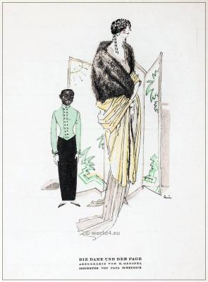 German fashion designer M. Gerstel. Art deco costumes 1920s. Roaring twenties fashion. Gibson Girls clothing. STYL Fashion Magazine.
