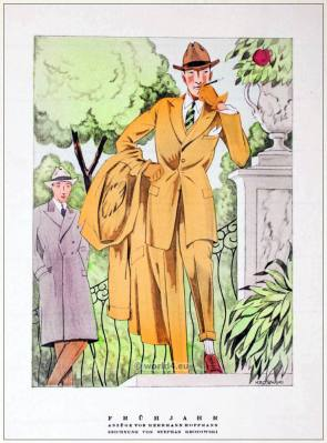 German fashion designer Herrmann Hoffmann. Art deco costumes 1920s. Roaring twenties fashion. Gibson Girls clothing. STYL Fashion Magazine.