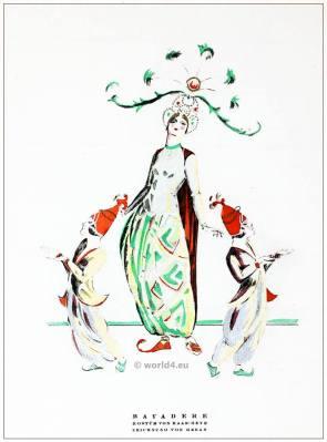 German fashion designer Haas Heye. Art deco costumes 1920s. The Temple Dancer. STYL Fashion Magazine.