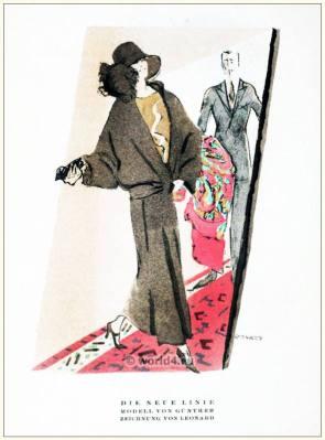 The New Line. STYL Art Déco Fashion Magazine. German Art deco costumes 1920s. Roaring twenties fashion. Gibson Girls clothing.