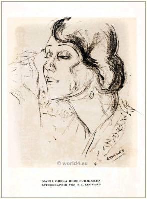 Maria Orska. STYL Art Déco Fashion Magazine. German Art deco costumes 1920s. Roaring twenties fashion. Gibson Girls clothing.