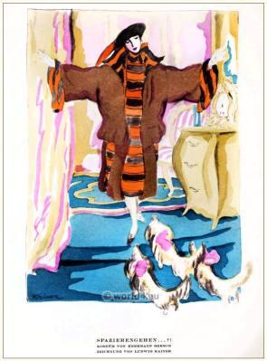 Herrmann Gerson. STYL Art Déco Fashion Magazine. German Art deco costumes 1920s. Roaring twenties fashion. Gibson Girls clothing.