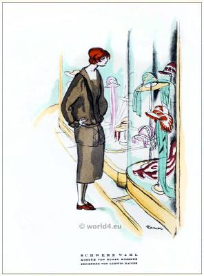 Costume of Eugene Mossner. STYL Art Déco Fashion Magazine. German Art deco costumes 1920s. Roaring twenties fashion. Gibson Girls clothing.
