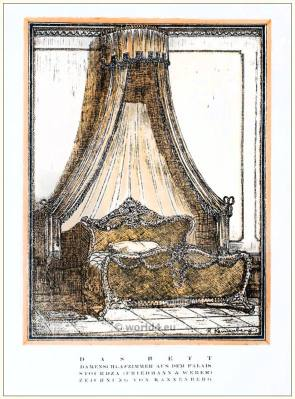 Ladies bedroom. STYL Art Déco Fashion Magazine. German Art deco costumes 1920s. Roaring twenties fashion. Gibson Girls clothing.