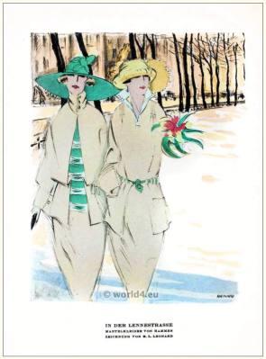 Sheath dresses by Hammer. STYL Art Déco Fashion Magazine. German Art deco costumes 1920s. Roaring twenties fashion. Gibson Girls clothing.