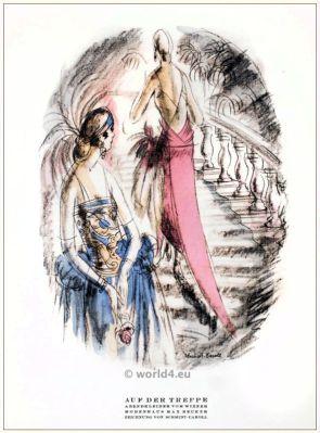 STYL, Art Déco Fashion Magazine. German Art deco costumes 1920s. Roaring twenties fashion. Gibson Girls clothing.