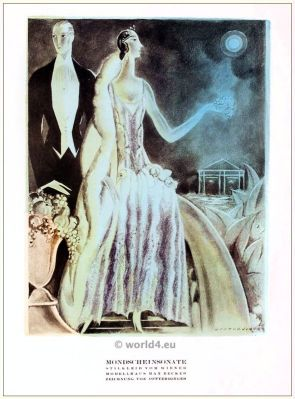 Max Becker, costume designer, jewish, berlin, 1920s, art deco, Styl, fashion magazine