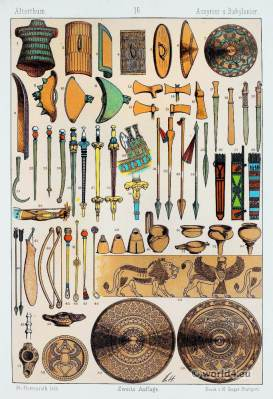 Ancient Babylonians and Assyrians weapons. Babylonian, Assyrian Clothing