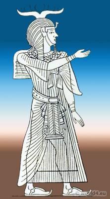 Egyptian King clothing. Ancient Egypt Pharao costume.