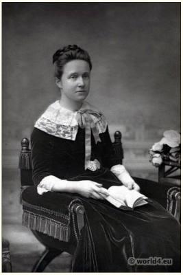 Millicent Fawcett, Suffragist, Woman rights. Feminist Voice. British suffragette. Victorian costume
