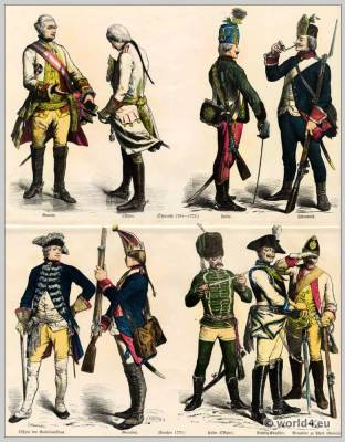 Austria, Prussian Military uniforms, 18th century, Soldier