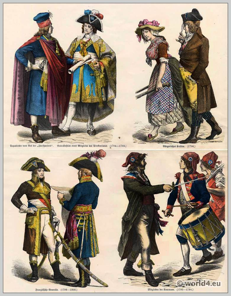 The Days Of The Directoire Costumes Under The French