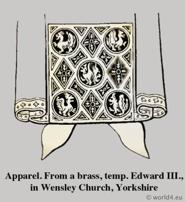 Apparel. Medieval clothing. Middle ages dresses. Cyclopedia of Costume. Dictionary of Dress.