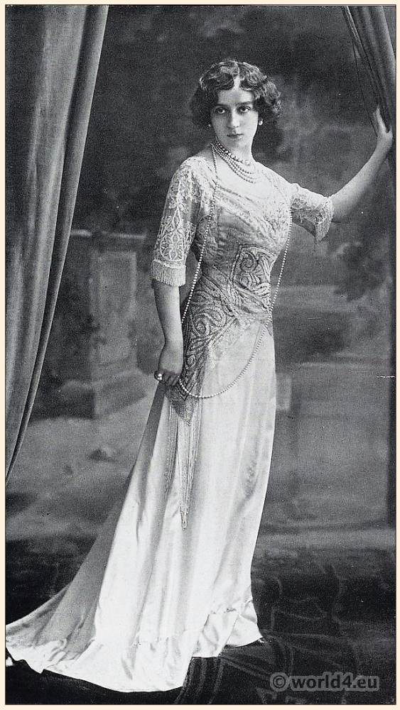 Art nouveau, costume, Belle Époque, fashion, Society dress, Atelier, Mme Strubb, Paris,