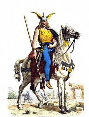Gallic Horseman, warrior, gaul, Roman invasion, costume
