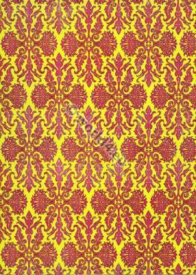 18th century fashion. Rococo fabric. Two tone fabric design.