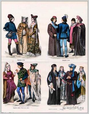 French medieval citizens clothing. King Henry VII costume. Duke of Suffolk