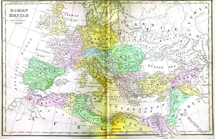 Roman Empire, Ancient, Map