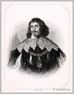 Philip Herbert. Earl of Pembroke & Montgomery. England 17th century Tudor clothing. Baroque costume.