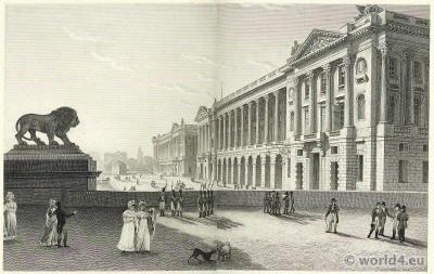 Palace Louis XV. Tuileries palace, France Château
