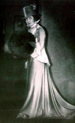 Actress Fritzi Massary. 1920s fashion. Art deco costume Berlin. Berlin opera. Die Teresina. Oscar Straus.