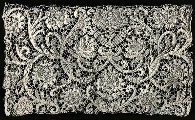 Stitched lace. Alençon France, late 17th Century. Baroque Period.