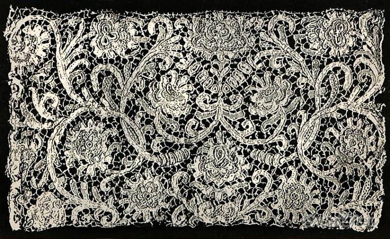 Stitched lace, Alençon, Fashion, history, baroque, 17th, century,