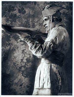 Adolf Bolm Russian Ballet. Firebird. Dance costume. Famous Opera