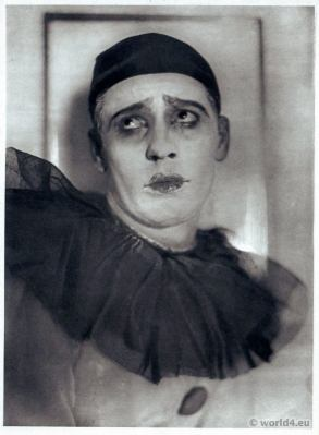 Adolf Bolm in Le Carnaval. Russian Ballet. Dance costume. Famous Opera