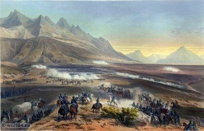 Battle of Buena Vista. Mexican-American War. George Wilkins Kendall. Carl Nebel. Battle of Angostura. Military Soldier Uniforms.