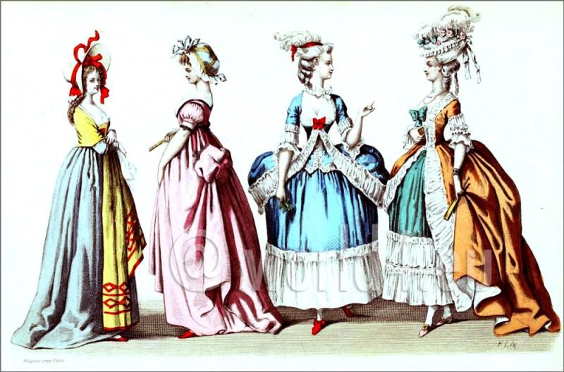 Rococo, fashion history, Hoop, court dress